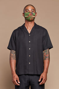 Black Night Camp Collar Shirt