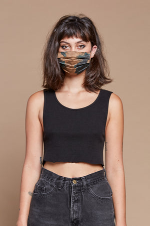 Black Organic Hemp/Cotton Waffle Undershirt