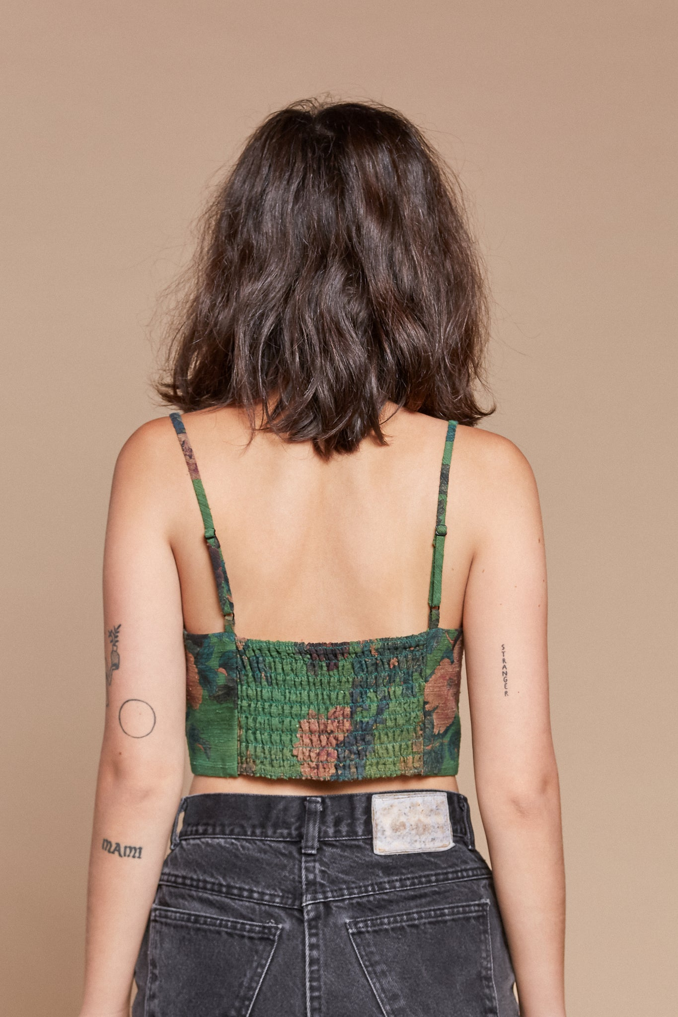 Kelly Greenery Spaghetti Crop Top