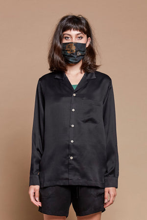 Raven Long Sleeve Camp Collar