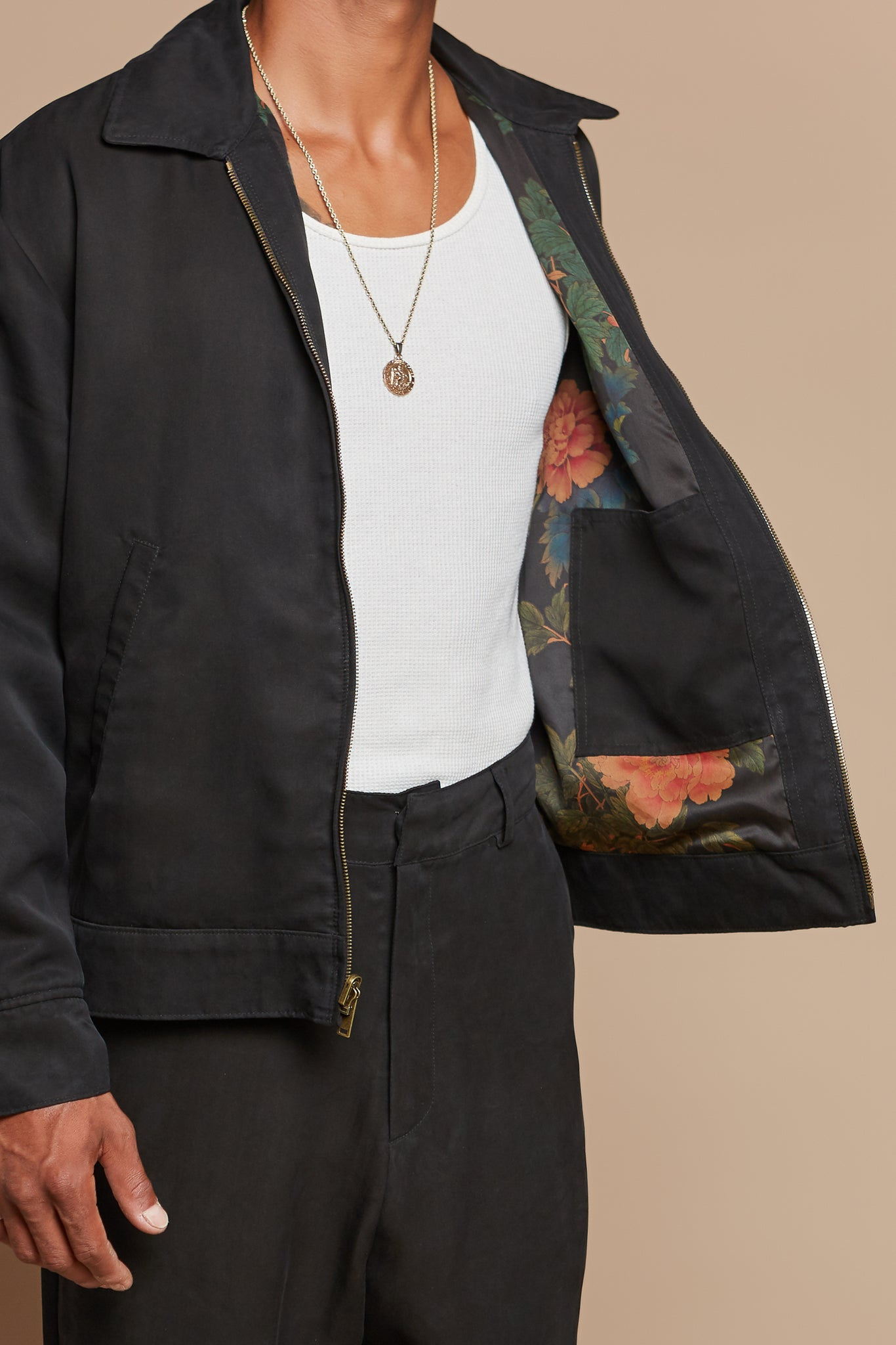 Black Dahlia Reversible Mechanic Jacket