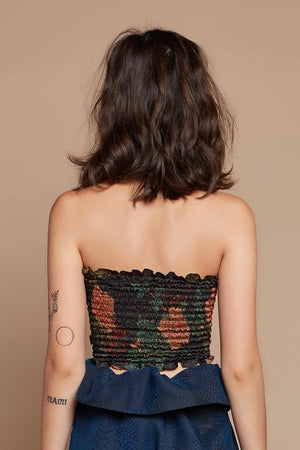 Black Dahlia Tube Top