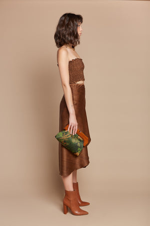 Brown Sugar Long Wrap Skirt