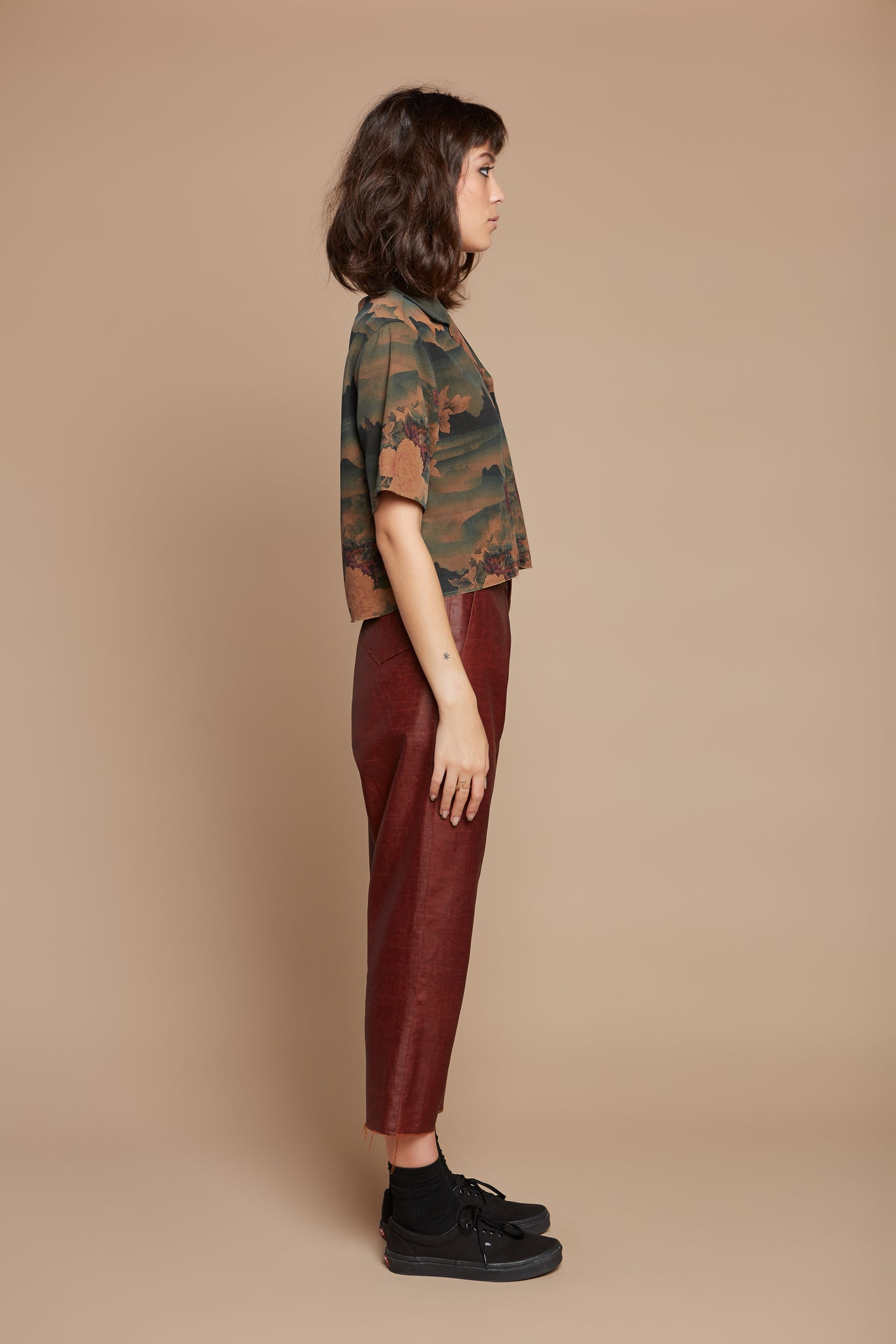 Rust Cropped Trouser