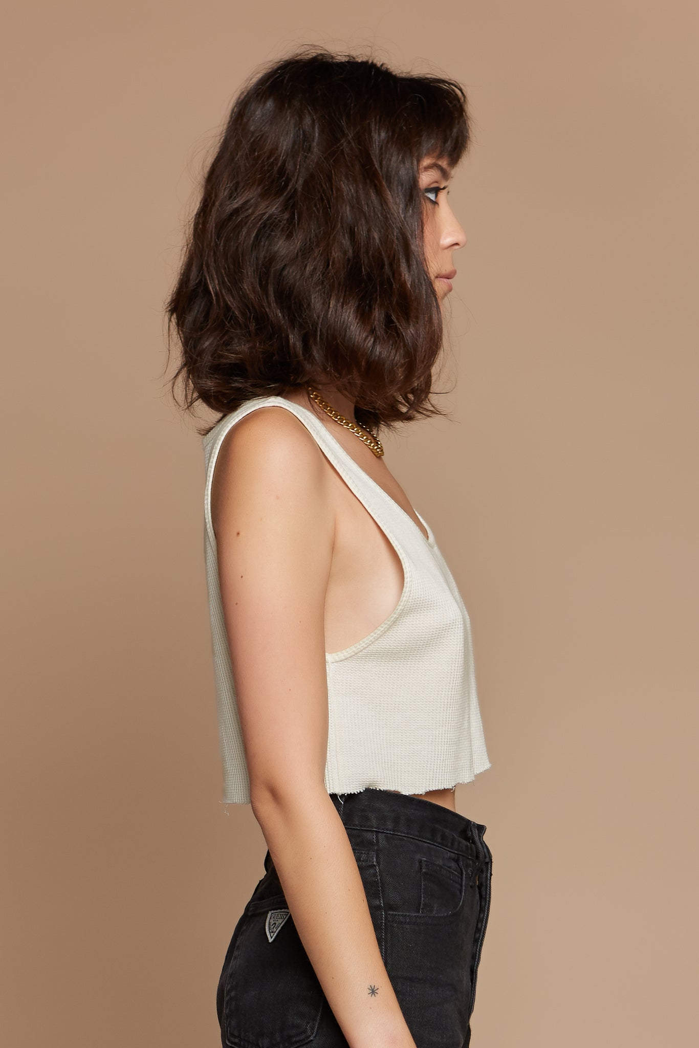 Natural Organic Hemp/Cotton Waffle Undershirt