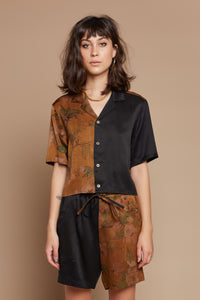 Marigold Half + Half Cropped Camp Collar