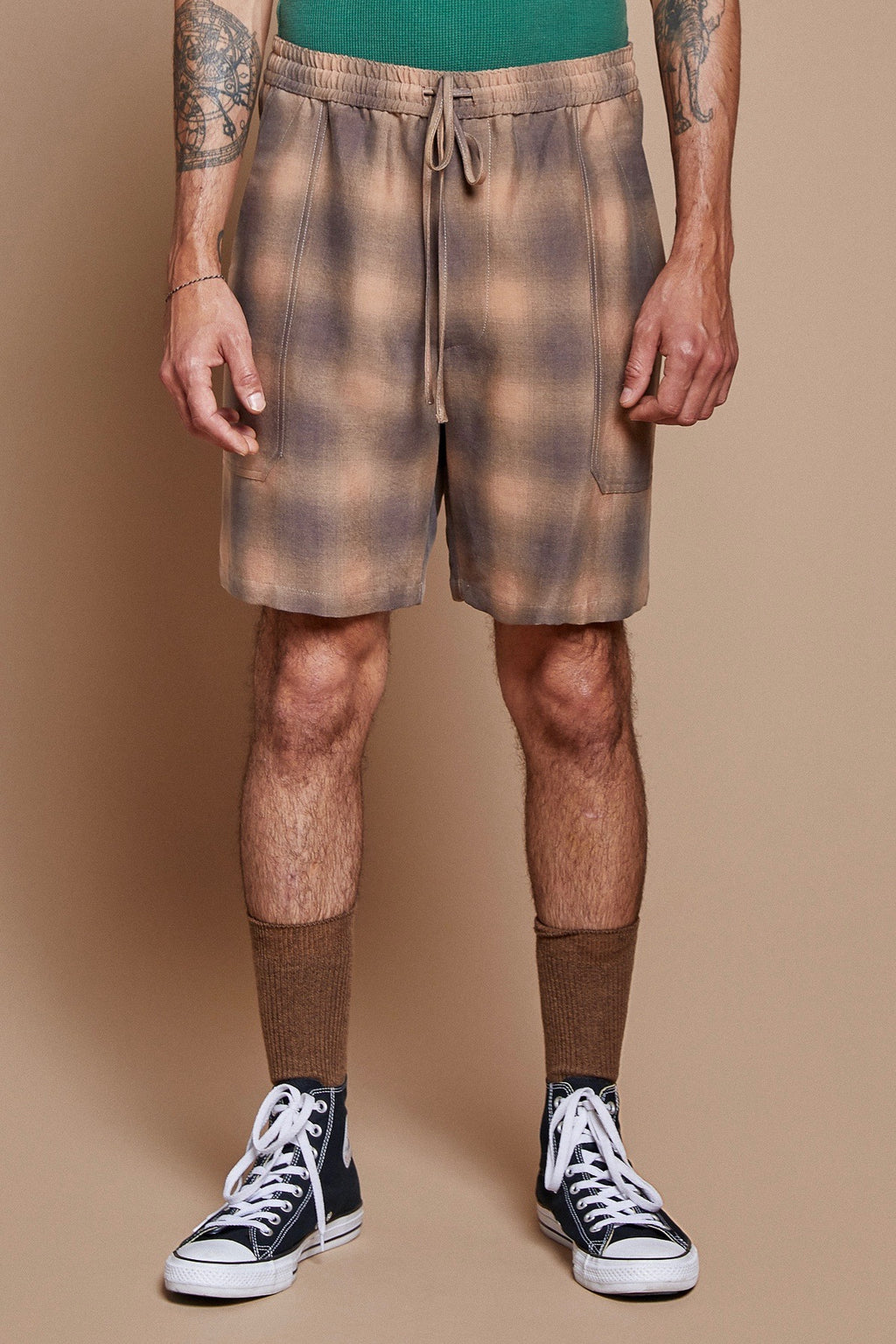 Shadow Plaid Lounge Short