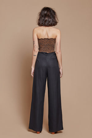 Black Night Belted Trouser