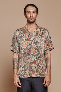 Paisley Camp Collar Shirt