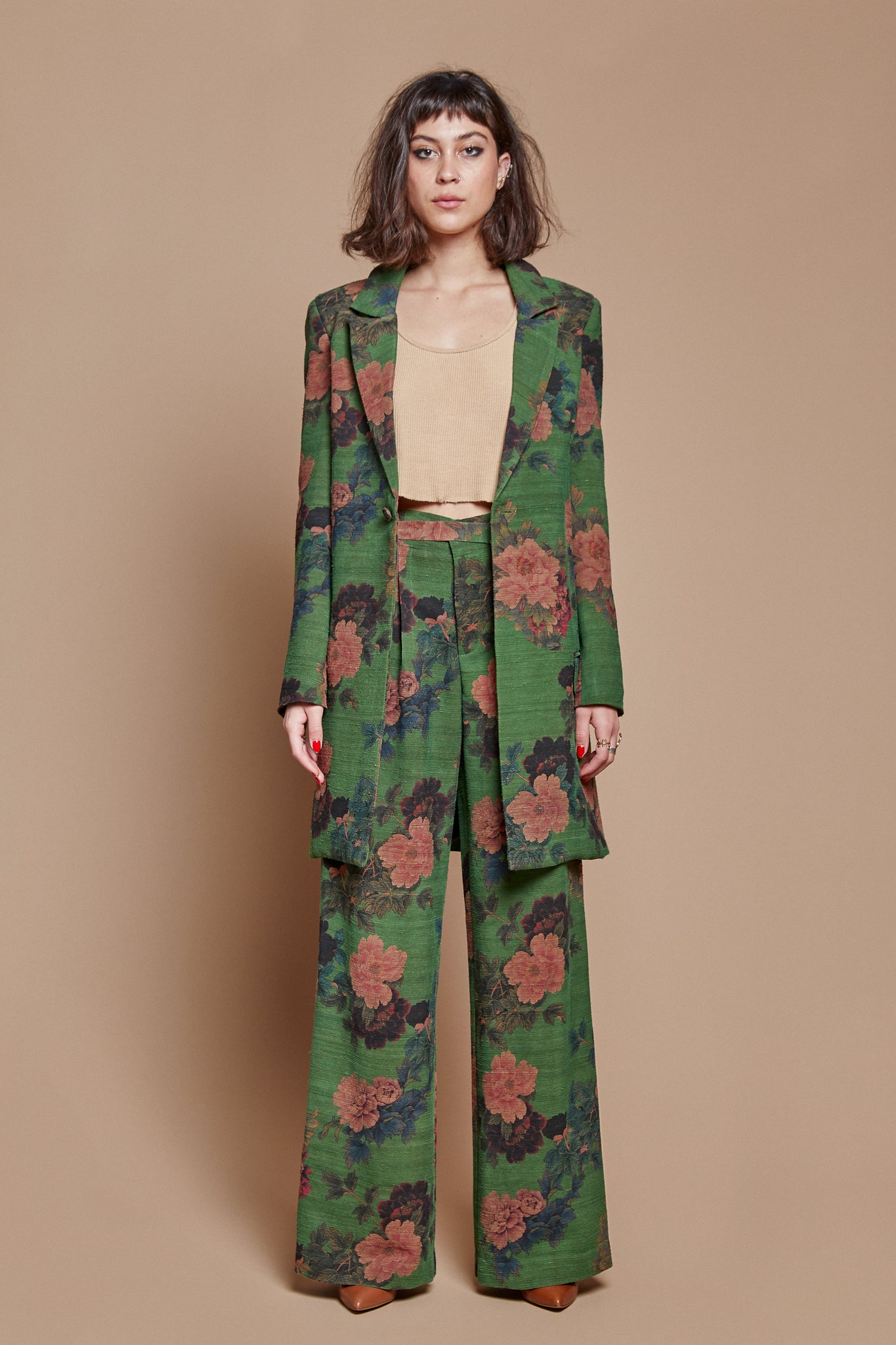 Kelly Greenery Belted Trouser