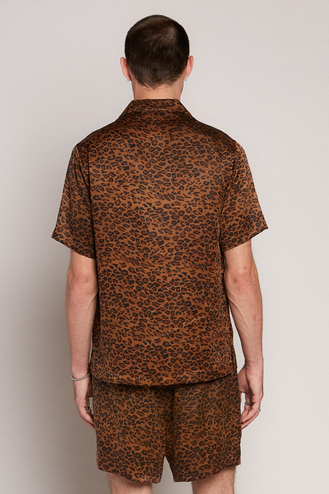 Leopard Camp Collar Shirt
