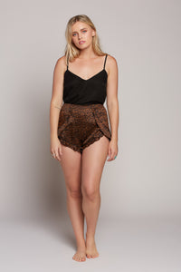 Leopard Bloomer Shorts