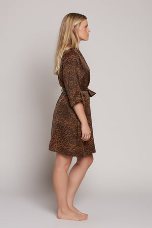Leopard Short Robe