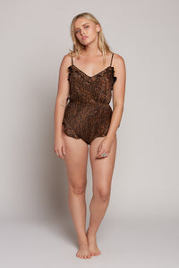 Leopard Nightie Romper