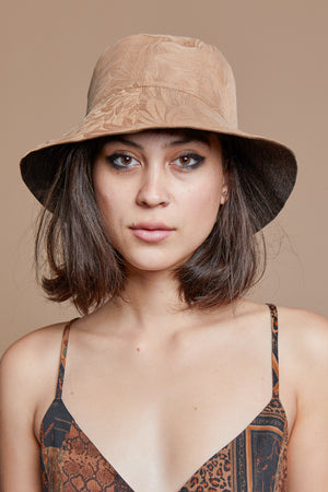 Black Leaves Reversible Bucket Hat
