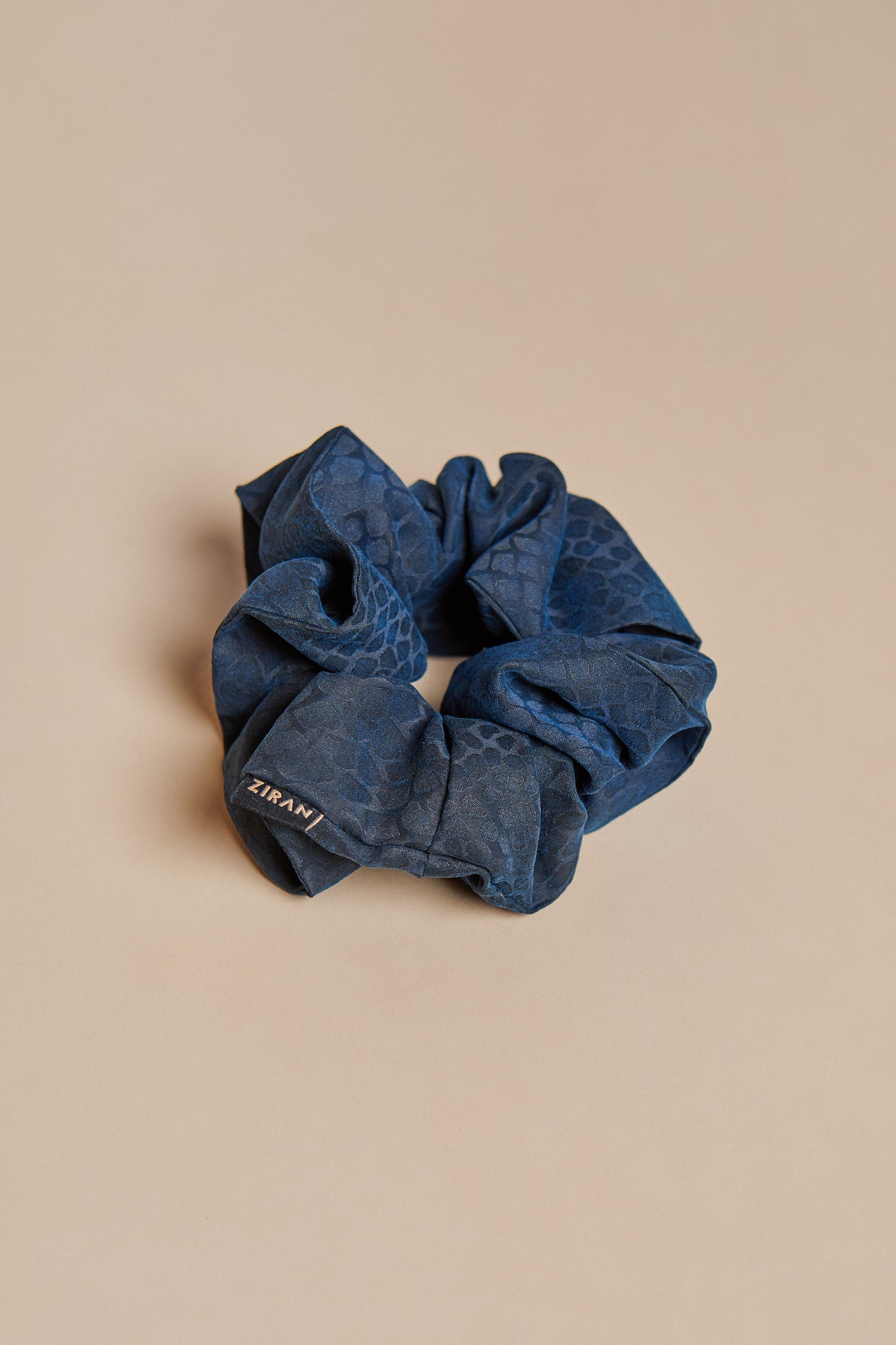 Blue Snake Scrunchie