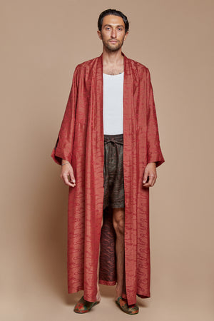 Red Clouds Long Robe