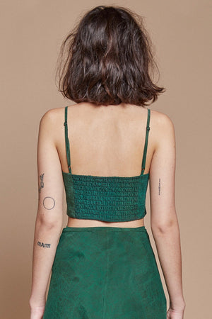 Green Turtle Spaghetti Crop Top