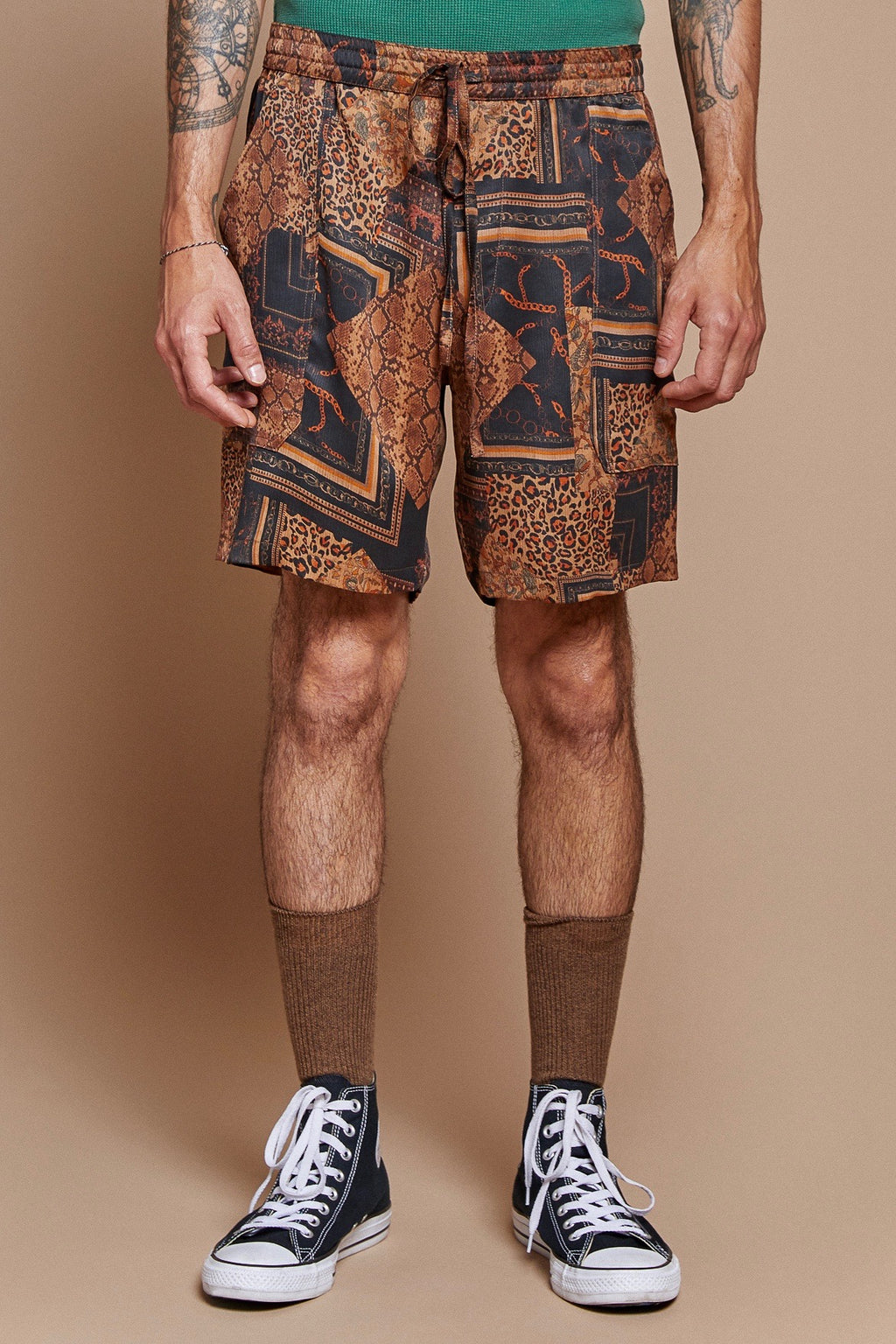 Leopard Chain Lounge Short