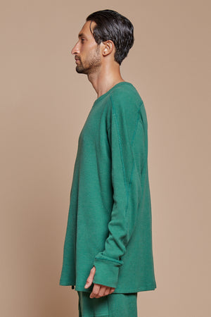 Green Organic Hemp/Cotton Long Sleeve