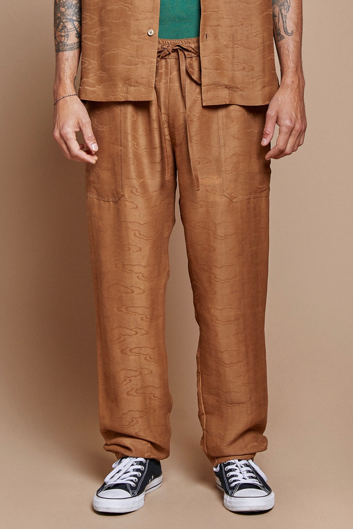 Tan Clouds Lounge Pant