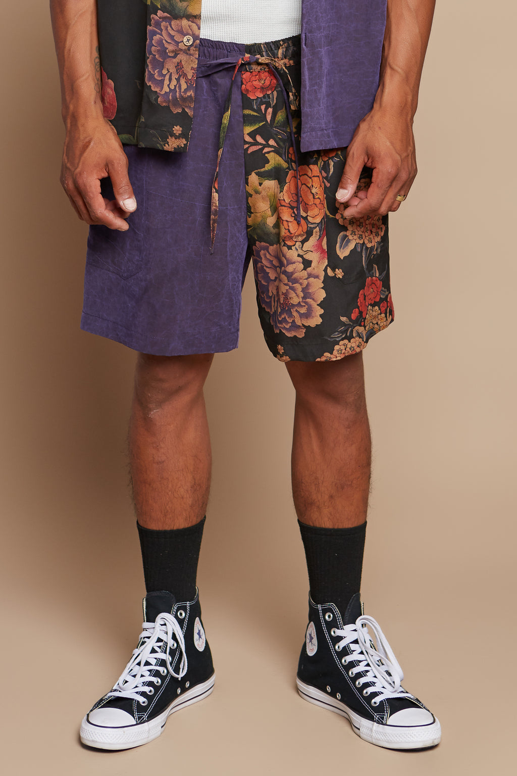 Floral Bouquet Half + Half Lounge Short