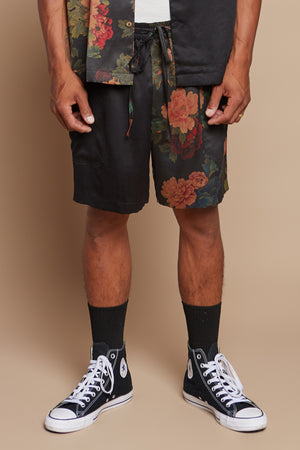 Black Dahlia Half + Half Lounge Short