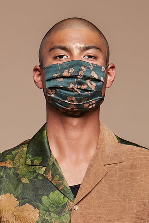 Teal Poppy Reversible Facemask