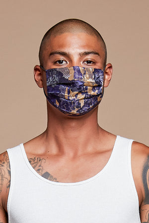 Blue China Reversible Facemask