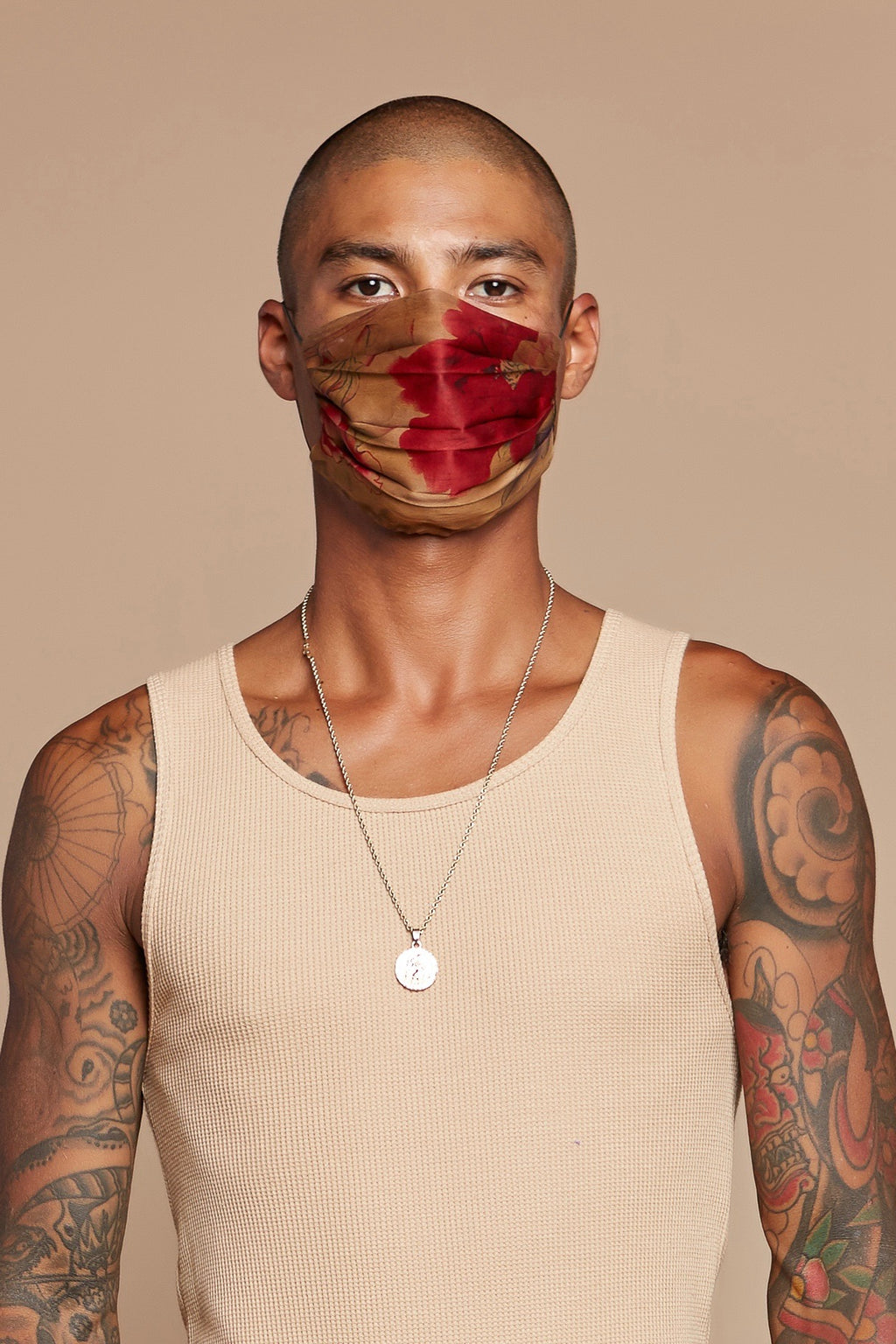 Red Peony Reversible Facemask