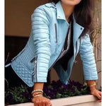 Spring Soft Faux Leather Jackets Lady Motorcycle