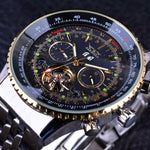 FLYING SERIES GOLDEN BEZEL SCALE DIAL DESIGN MENS WATCH