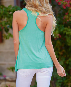 Tank Top Backless with front graphic print