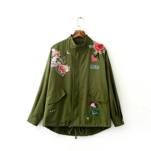 Army Jacket Embroidery Military with patches