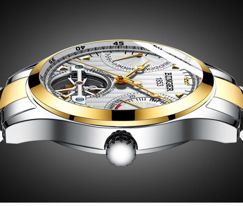 Switzerland Automatic Watches - Water Resistant Stainless Steel Strap Mechanical Watches