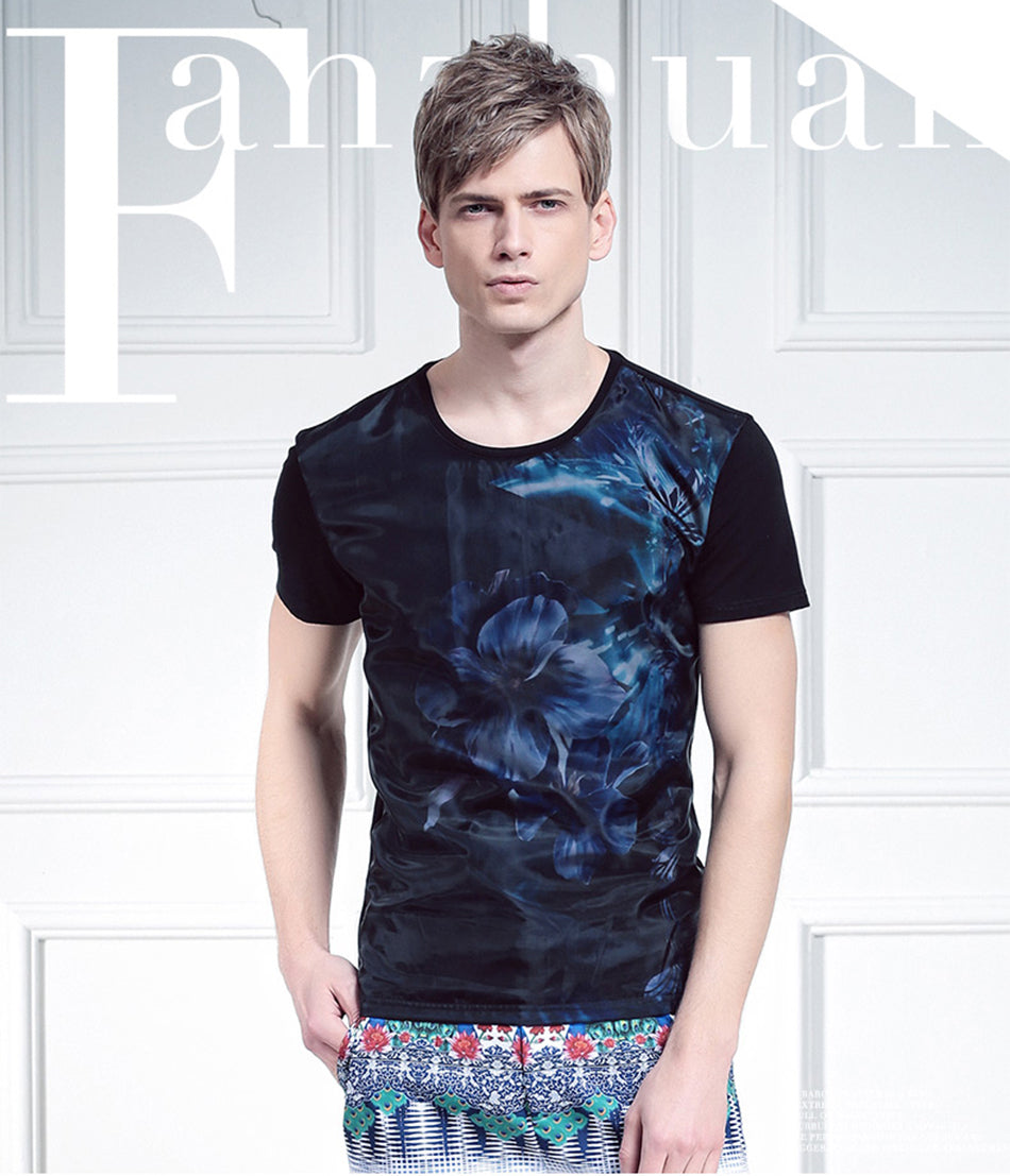 Fashion Short Sleeve  print  T-shirt