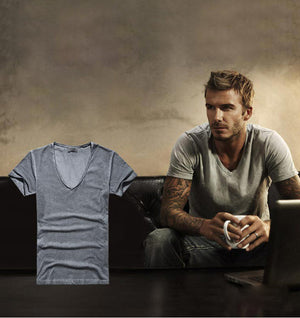 Retro T-shirts V-neck  Casual  tops tees