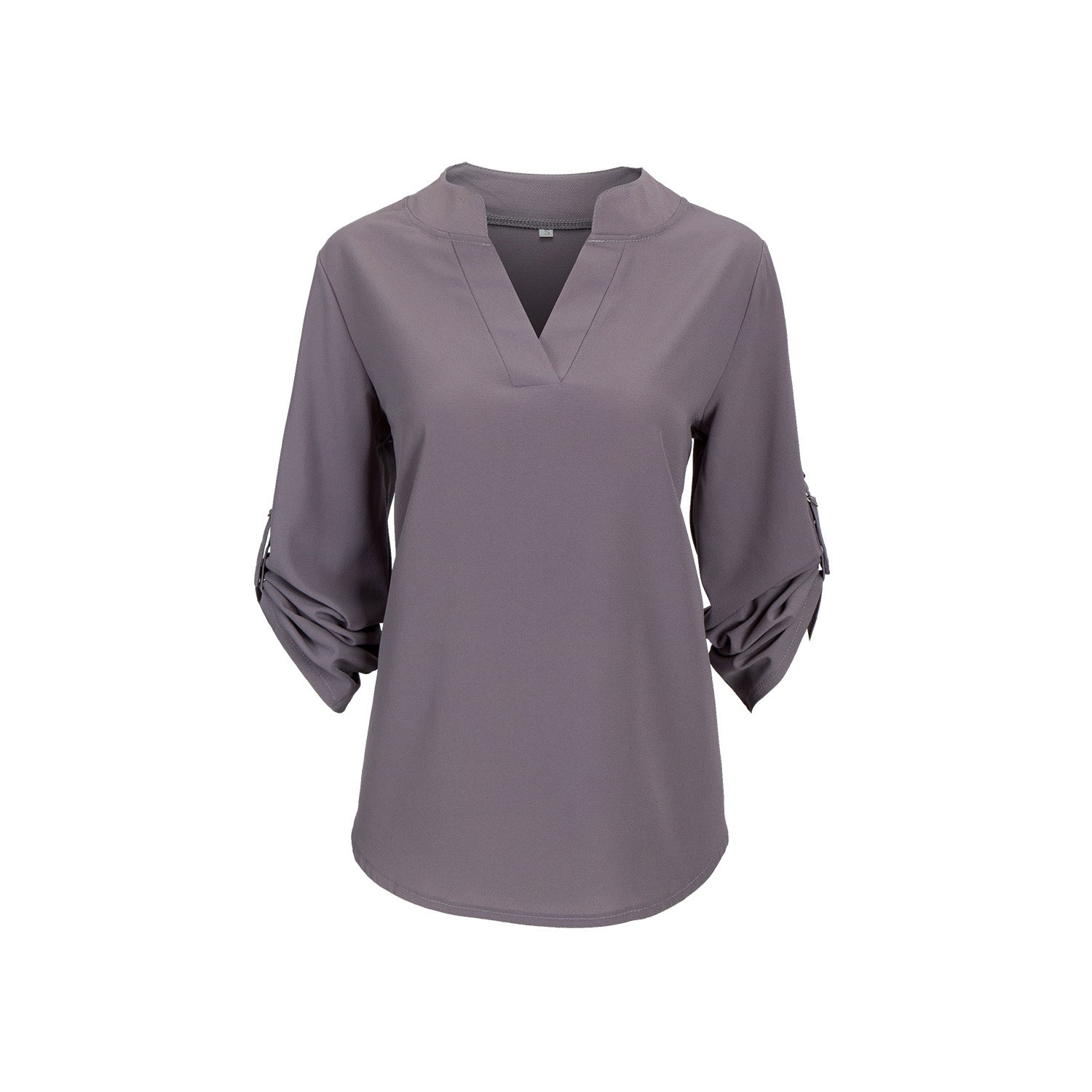V-neck Chiffon Blouses 3/4 Sleeve Shirt