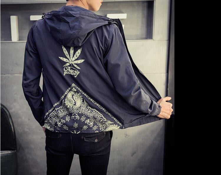 Windbreaker Jacket with Hooded