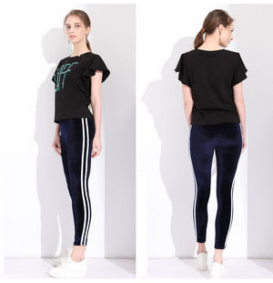 Slim fit legging with high waist
