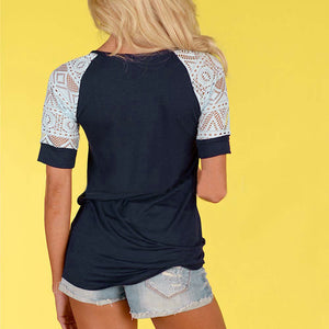 Short Sleeve T shirt Fashion Casual Tops