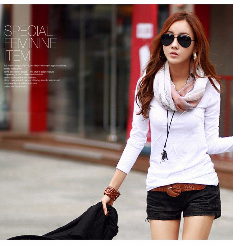 Slim Tops Long Sleeve Fashion Tees