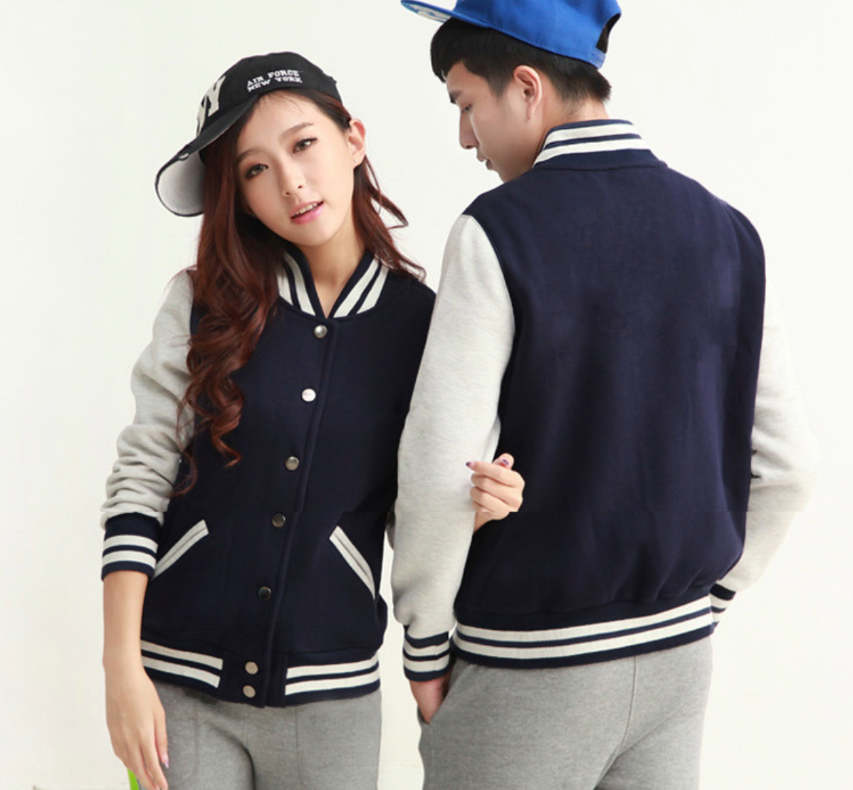 UNISEX - Fleece Varsity Baseball Jackets