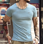 Scoop Neck Slim Fit Casual T-shirt