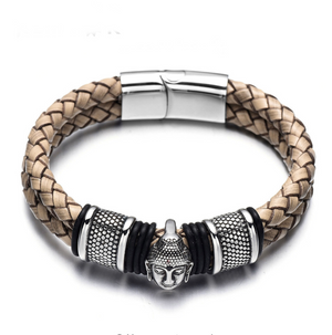 Stainless Steel Buddha Head Bracelets