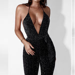 V-Neck Backless Jumpsuit