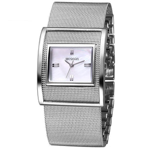 Silver Women Watches Luxury High Quality Water Resistant  Stainless Steel