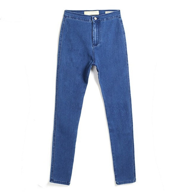 Stretch Jeans High Waist Pants