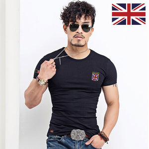 Slim Fit Tee shirt United Kingdom Flags
