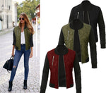 Winter Fashion Color Zipper Clip Cotton Jacket
